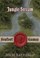 Seafoot Games - Jungle Stream | 20x30 Battlemap