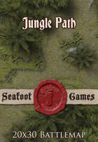 Seafoot Games - Jungle Path | 20x30 Battlemap