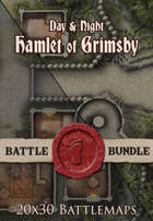 Seafoot Games - Hamlet of Grimsby| 20x30 Battlemap [BUNDLE]
