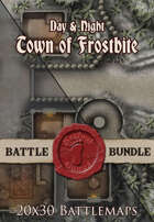 Seafoot Games - Town of Frostbite | 20x30 Battlemap [BUNDLE]