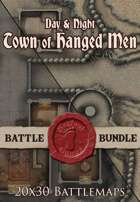 Seafoot Games - Town of Hanged Men | 20x30 Battlemap [BUNDLE]
