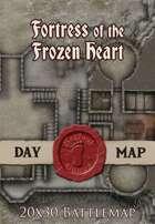 Seafoot Games - Fortress of the Frozen Heart | 20x30 Battlemap