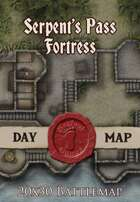Seafoot Games - Fortress of the Serpent's Pass | 20x30 Battlemap