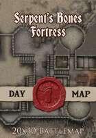 Seafoot Games - Fortress of the Serpent's Bones | 20x30 Battlemap