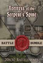 Fortress of the Serpent's Spine | 20x30 Battlemaps [BUNDLE]