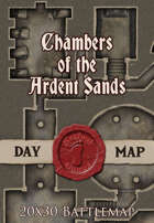 Seafoot Games - Chambers of the Ardent Sands | 20x30 Battlemap
