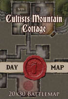 Seafoot Games - Cultists Mountain Cottage | 20x30 Battle Map