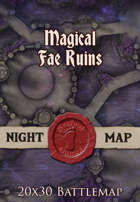 Seafoot Games - Magical Fae Ruins | 20x30 Battlemap