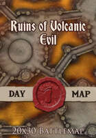 Seafoot Games - Ruins of Volcanic Evil | 20x30 Battlemap
