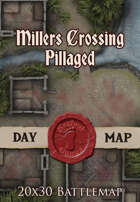 Seafoot Games - Millers Crossing (Pillaged) | 20x30 Battlemap