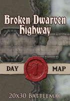 Seafoot Games - Broken Dwarven Highway | 20x30 Battlemap