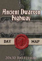 Seafoot Games - Ancient Dwarven Highway | 20x30 Battlemap