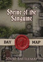 Seafoot Games - Shrine of the Sanguine | 20x30 Battlemap