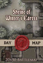 Seafoot Games - Shrine of Winter's Caress | 20x30 Battlemap
