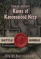 Ruins of Ravenswood Keep | 20x30 Battlemap [BUNDLE]