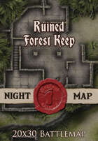 Seafoot Games - Ruined Forest Keep | 20x30 Battlemap