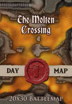Seafoot Games - The Molten Crossing | 20x30 Battlemap