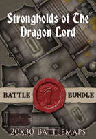 Strongholds of the Dragonlord | 20x30 Battlemap [BUNDLE]