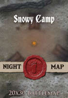Seafoot Games - Snowy Camp | 20x30 Battlemap