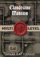 Seafoot Games - Clandestine Mansion | 20x30 Battlemap