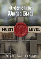 Seafoot Games - Order of the Winged Blade | 20x30 Battlemap