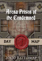 Seafoot Games - Arena Prison of the Condemned | 20x30 Battlemap