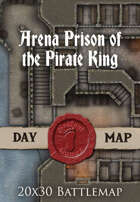 Seafoot Games - Arena Prison of the Pirate King | 20x30 Battlemap
