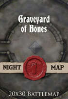 Seafoot Games - Graveyard of Bones (Night) | 20x30 Battlemap