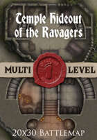 Seafoot Games - Temple Hideout of the Ravagers | 20x30 Battlemap