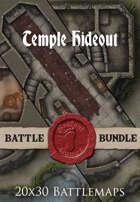 Temple Hideout | 20x30 Battlemaps [BUNDLE]