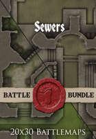 Sewers | 20x30 Battlemaps [BUNDLE]