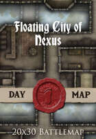 Seafoot Games - Floating City of Nexus | 20x30 Battlemap