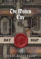 Seafoot Games - The Molten City | 20x30 Battlemap
