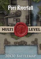 Seafoot Games - Port Riverfall | 20x30 Battlemap