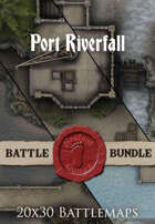 Port Riverfall | 20x30 Battlemaps [BUNDLE]