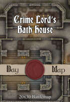 Seafoot Games - Crime Lord's Bath House  | 20x30 Battlemap