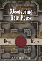 Seafoot Games - Woodspring Bath House | 20x30 Battlemap