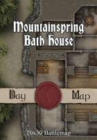 Seafoot Games - Mountainspring Bath House    20x30 Battlemap