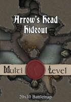 Seafoot Games - Arrow's Head Hideout | 20x30 Battlemap