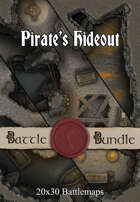 Pirate's Hideout | 20x30 Battlemaps [BUNDLE]