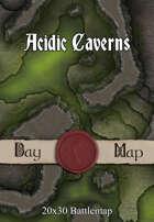 Seafoot Games - Acidic Caverns | 40x30 Battlemap