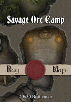 Seafoot Games - Savage Orc Camp | 40x30 Battlemap