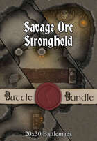 Savage Orc Stronghold | 40x30 Battlemaps [BUNDLE]