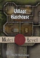 Seafoot Games - Village Gatehouse | 20x30 Battlemap