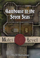 Seafoot Games - Gatehouse to the Seven Seas | 20x30 Battlemap