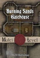 Seafoot Games - Burning Sands Gatehouse | 20x30 Battlemap