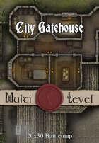 Seafoot Games - City Gatehouse | 20x30 Battlemap