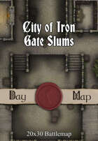 Seafoot Games - City of Iron Gate Slums | 20x30 Battlemap
