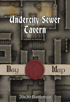 Seafoot Games - Undercity Sewer Tavern | 20x30 Battlemap