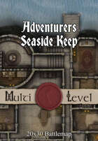 30x20 Multi-Level Battlemap - Adventurers Seaside Keep | Seafoot Games